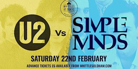 U2 V's Simple Minds tickets