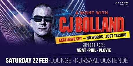 A night with CJ Bolland tickets
