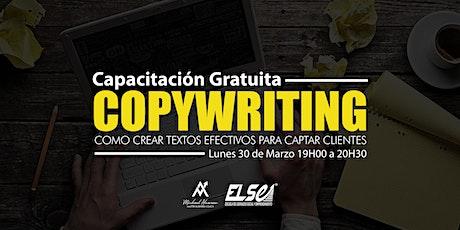 CAPACITACIÓN GRATUITA - CopyWriting, como crear textos efectivos entradas