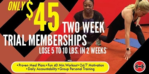 2-week January Trial/On-Boarding Sessions for 5:15 PM class at Matteson Fat Loss