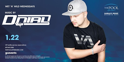 Wet 'N' Wild Wednesdays with DJ Dnial at The Pool After Dark - FREE GUESTLIST