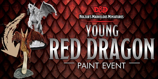 Portals - Learn to Paint: Young Red Dragon Paint Event!