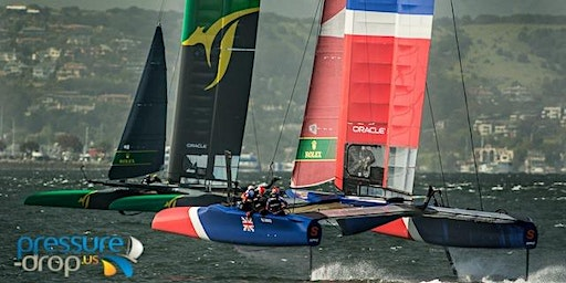 Watch The Sail-GP Foiling Catamaran Regatta Right Up FRONT aboard the Bay Lady