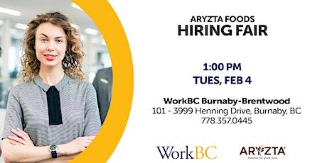 WorkBC Burnaby : Aryzta Hiring Fair tickets