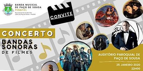 Concerto Banda Musical de Paço de Sousa - BANDAS SONORAS DE FILMES bilhetes