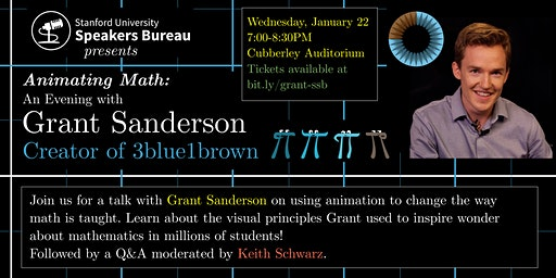 Animating Math: An Evening with Grant Sanderson