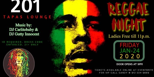 Reggae Night at 201 Tapas Lounge