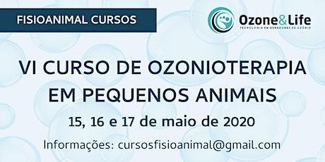 VI Curso de Ozonioterapia em Pequenos Animais ingressos