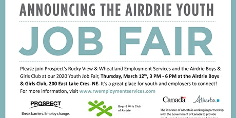 Airdrie Youth Job Fair (EMPLOYER Registration Only) tickets