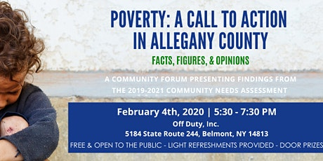 Poverty: A Call to Action in Allegany County tickets