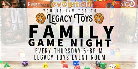 Family Game Night - Miller Hill Legacy Toys tickets