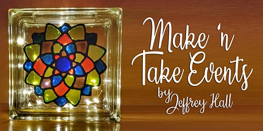 Make 'n Take - Stain Glass Mandala Glass Block