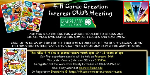 4-H Comic Creations Interest Club MEETING