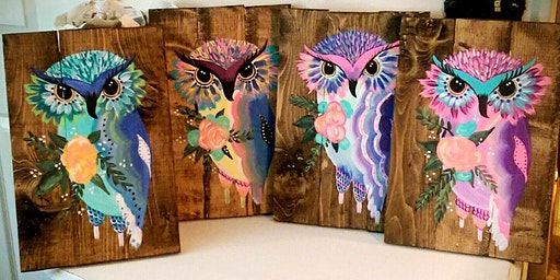 SOLD OUT - Colorful Owl Paint Night