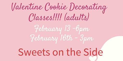 Be Mine Valentine Cookie Decorating Class (adults)