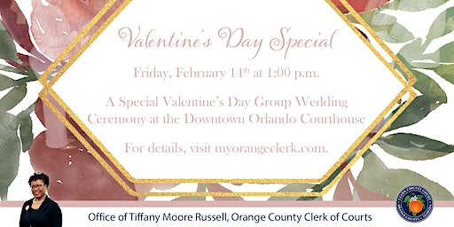 Valentine's Day Group Wedding at the Courthouse 2020