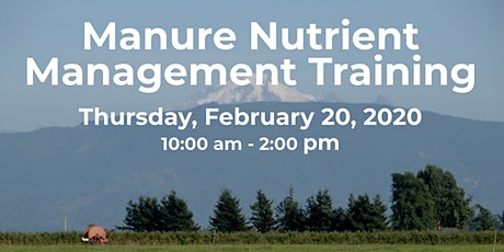 Nutrient Management Training : February 20, 2020 tickets