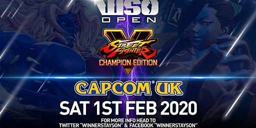 WinnerStaysOn Open: Street Fighter V: CE @ Capcom UK Feb 1st 2020