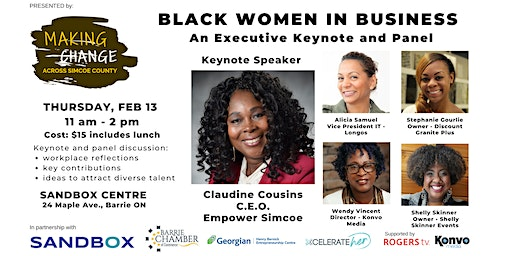 Voices from Black Women in Business  - Keynote, Panel & Lunch