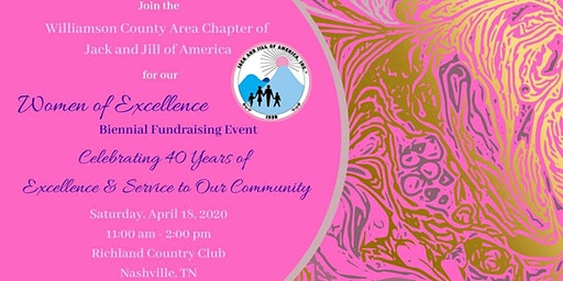 Jack and Jill WCAC - Women of Excellence Biennial Fundraising Event*SOLD OUT*