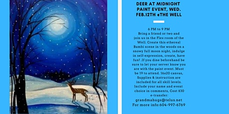 Deer in Forest Paint Event tickets