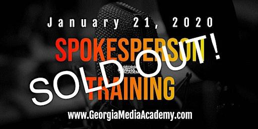 Spokesperson Training at the Georgia Media Academy