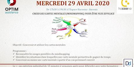 Formation efficacité : créer et utiliser les cartes mentales (mindmapping) tickets