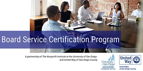 Nonprofit Board Service Certification tickets