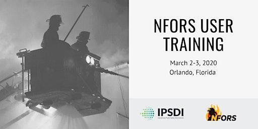 NFORS User Training