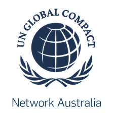 Global Compact Network Australia in collaboration with Global Reporting Initiative (GRI) logo