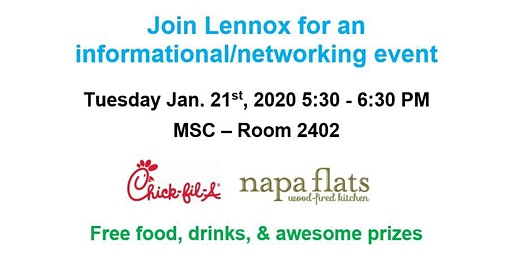Lennox Informational/Networking Event Spring 2020