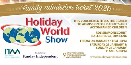 FREE Family Passes for Holiday World Show Dublin 2020! tickets