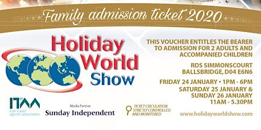 FREE Family Passes for Holiday World Show Dublin 2020!
