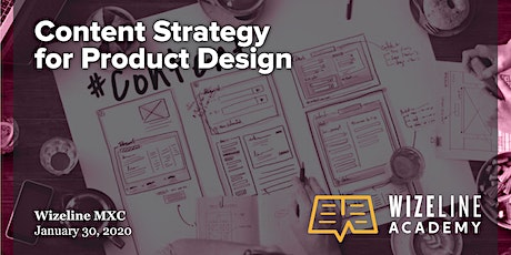 Design Session: Content Strategy for Product Design boletos