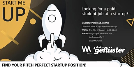 START ME UP STUDENT JOB FAIR entradas
