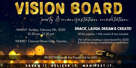 VISION BOARD & Manifestation Meditation Party tickets