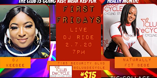 First Friday's Live DJ Ride with Belinda and DJ Keebee at Club Decycle