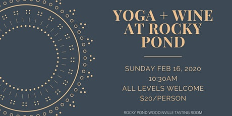 Yoga + Wine at Rocky Pond Winery  tickets