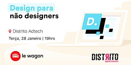 Design para não designers ingressos