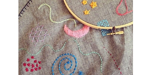 Embroidery Intensive: Become a Master Stitcher! (Two Session Workshop) (03-17-2020 starts at 7:00 PM)