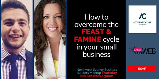 North West Sydney Business Builders FREE Networking & Masterclass - How To Overcome Cashflow Issues That Are Holding Your Business Back