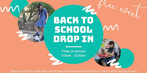 Back To School Check Drop In