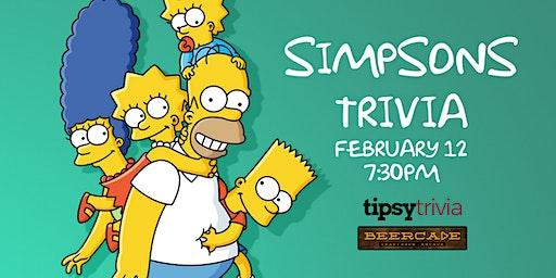 Simpsons Trivia - Feb 12, 7:30pm - Beercade