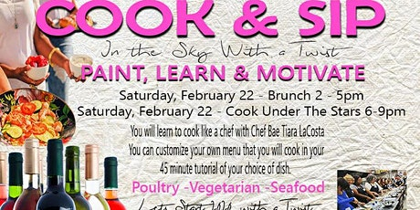 PAINT BAE PRESENTS COOK & SIP WITH A TWIST tickets