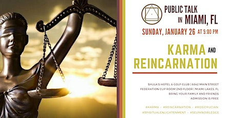 "Public Talk in Miami, FL - ""Karma and Reincarnation"" tickets"