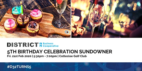 District32 5th Birthday Celebration Sundowner - Fri 21st Feb tickets