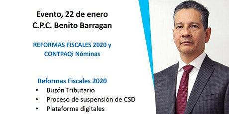 SEMINARIO ESPECIAL CON BENITO BARRAGÁN - REFORMAS FISCALES 2020 / CONTPAQi® Nóminas 12.3.0 entradas