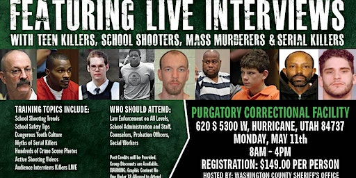 Profiling Teen Killers, School Shooters, Mass Murderers and Serial Killers by Phil Chalmers-Hurricane, UT-May 11, 2020