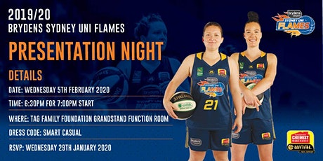 2019/20 Sydney Flames End of Season Dinner tickets