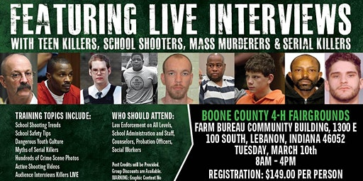 Profiling Teen Killers, School Shooters, Mass Murderers and Serial Killers by Phil Chalmers-Lebanon, Indiana-March 10, 2020